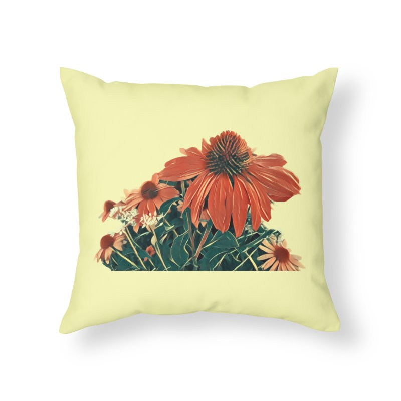 Dreamy Coneflowers Home Throw Pillow by C. Cooley's Artist Shop
