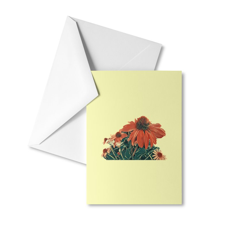 Dreamy Coneflowers Accessories Greeting Card by C. Cooley's Artist Shop