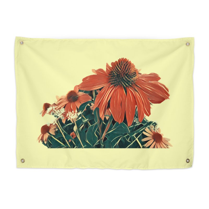 Dreamy Coneflowers Home Tapestry by C. Cooley's Artist Shop
