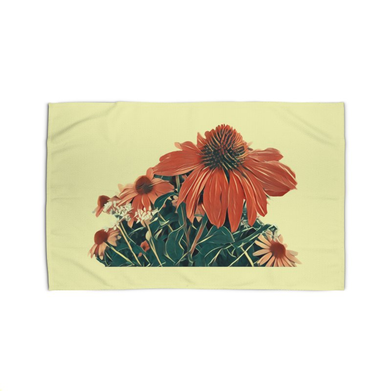 Dreamy Coneflowers Home Rug by C. Cooley's Artist Shop