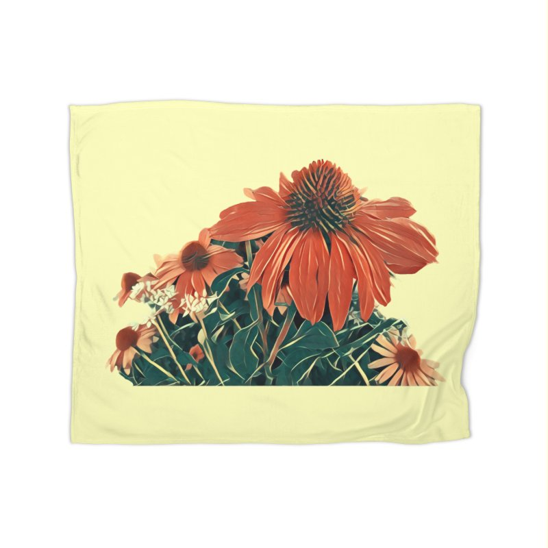 Dreamy Coneflowers Home Blanket by C. Cooley's Artist Shop