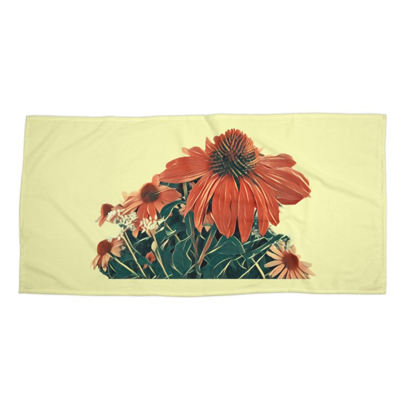 Dreamy Coneflowers Accessories Beach Towel by C. Cooley's Artist Shop