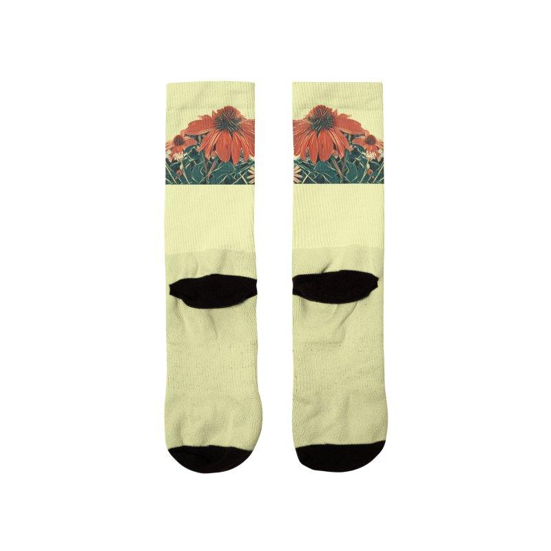 Dreamy Coneflowers Men's Socks by C. Cooley's Artist Shop