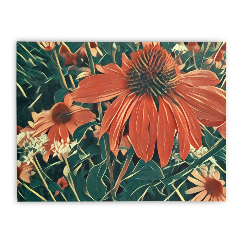 Dreamy Coneflowers Home Stretched Canvas by C. Cooley's Artist Shop