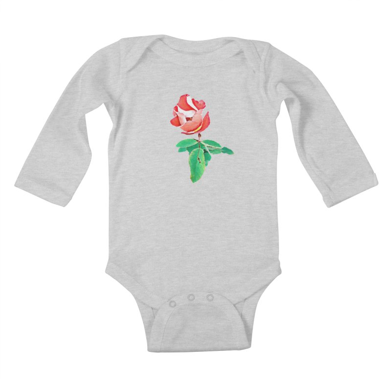 Bloom Kids Baby Longsleeve Bodysuit by C. Cooley's Artist Shop