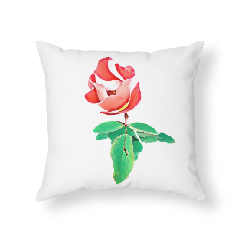 Bloom Home Throw Pillow by C. Cooley's Artist Shop
