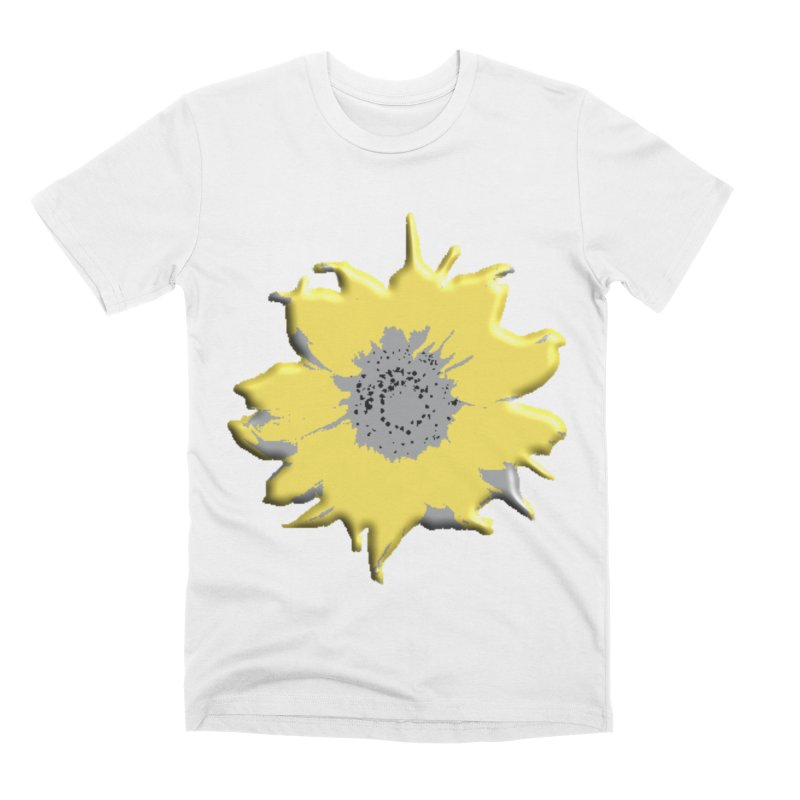 Sunflower Spill Men's T-Shirt by C. Cooley's Artist Shop