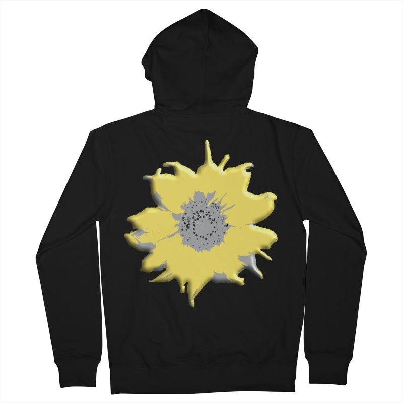 Sunflower Spill Men's Zip-Up Hoody by C. Cooley's Artist Shop