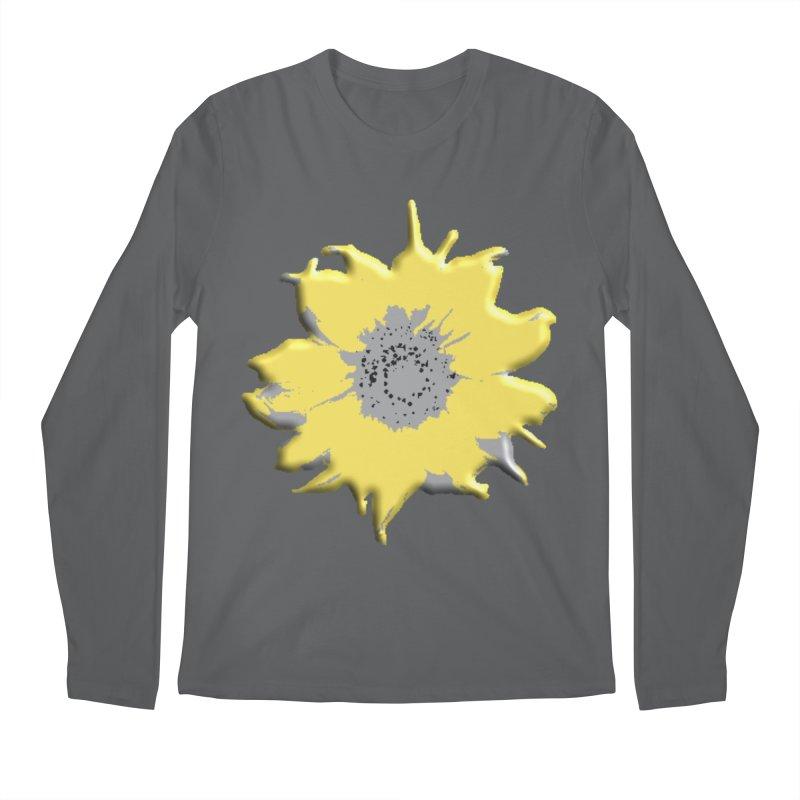 Sunflower Spill Men's Longsleeve T-Shirt by C. Cooley's Artist Shop