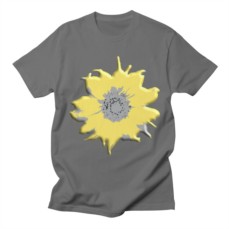 Sunflower Spill Men's T-Shirt by C. Cooley's Artist Shop
