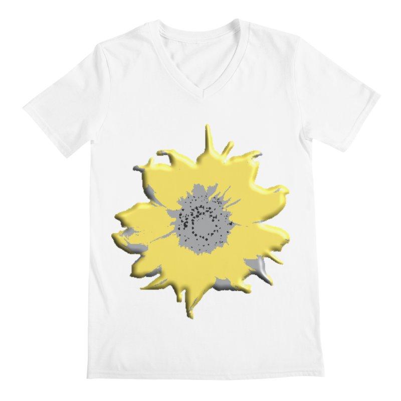 Sunflower Spill Men's V-Neck by C. Cooley's Artist Shop