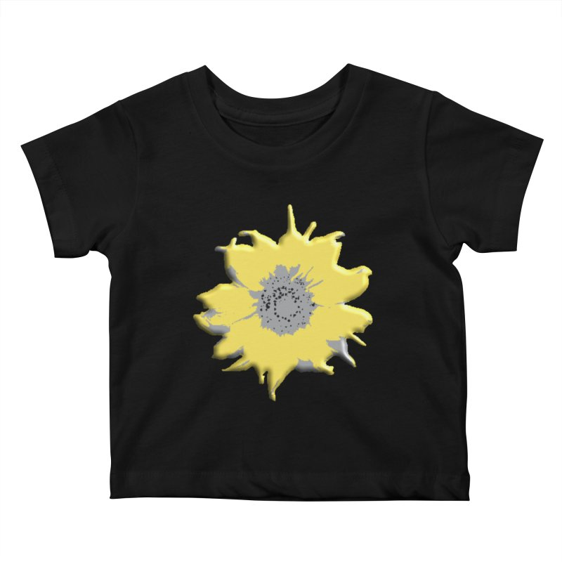 Sunflower Spill Kids Baby T-Shirt by C. Cooley's Artist Shop