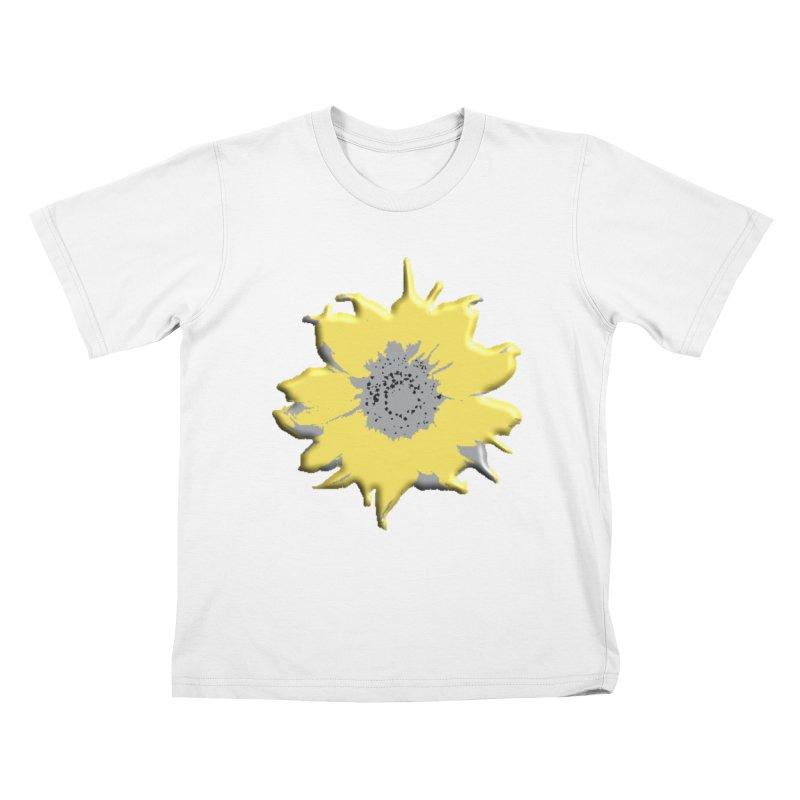 Sunflower Spill Kids T-Shirt by C. Cooley's Artist Shop