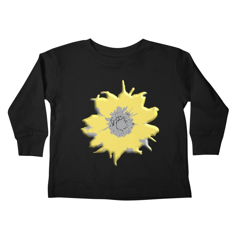 Sunflower Spill Kids Toddler Longsleeve T-Shirt by C. Cooley's Artist Shop