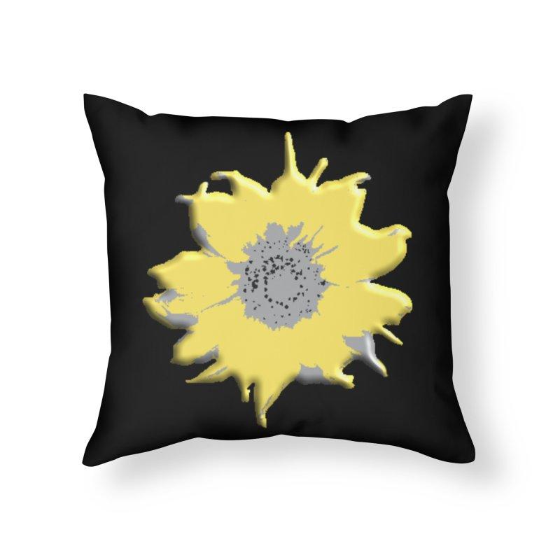 Sunflower Spill Home Throw Pillow by C. Cooley's Artist Shop