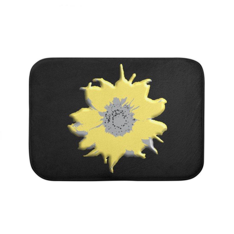Sunflower Spill Home Bath Mat by C. Cooley's Artist Shop