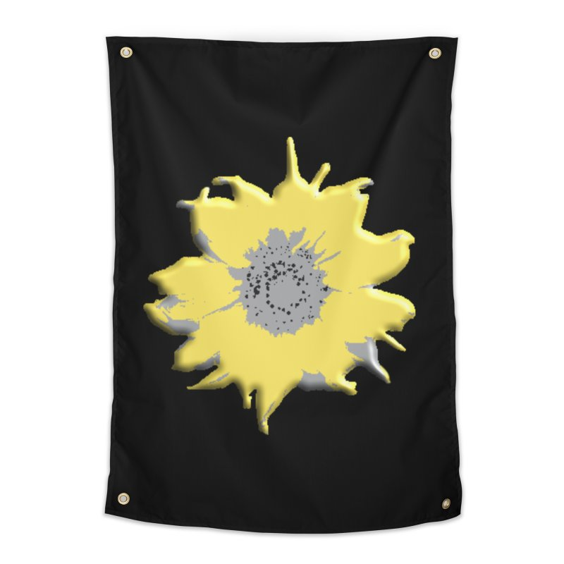 Sunflower Spill Home Tapestry by C. Cooley's Artist Shop