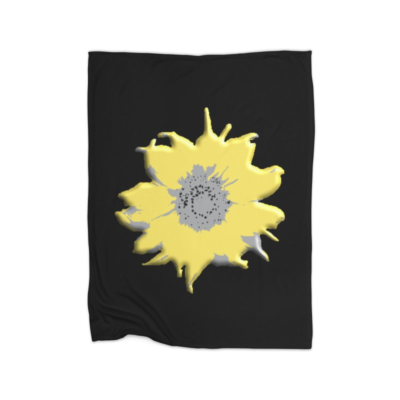 Sunflower Spill Home Blanket by C. Cooley's Artist Shop