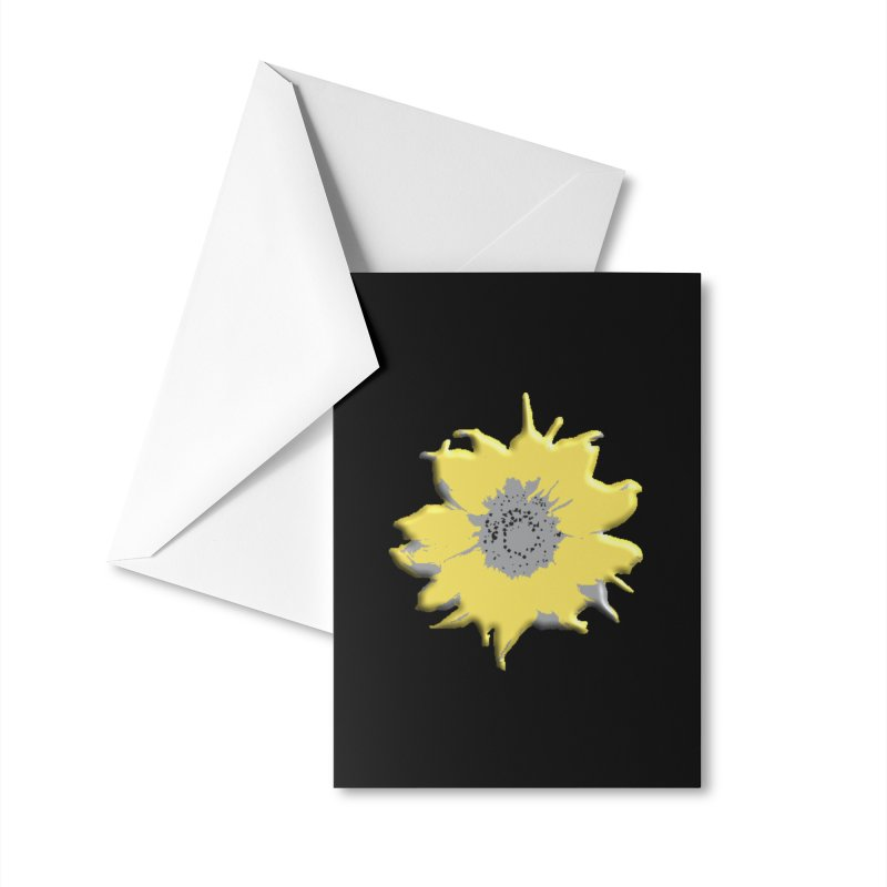 Sunflower Spill Accessories Greeting Card by C. Cooley's Artist Shop