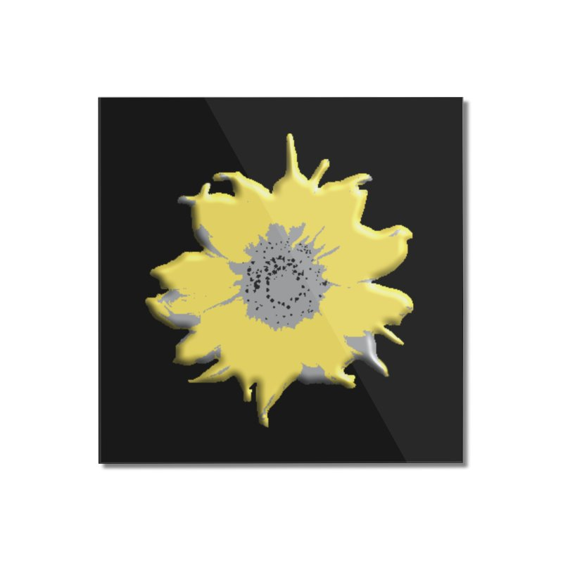 Sunflower Spill Home Mounted Acrylic Print by C. Cooley's Artist Shop
