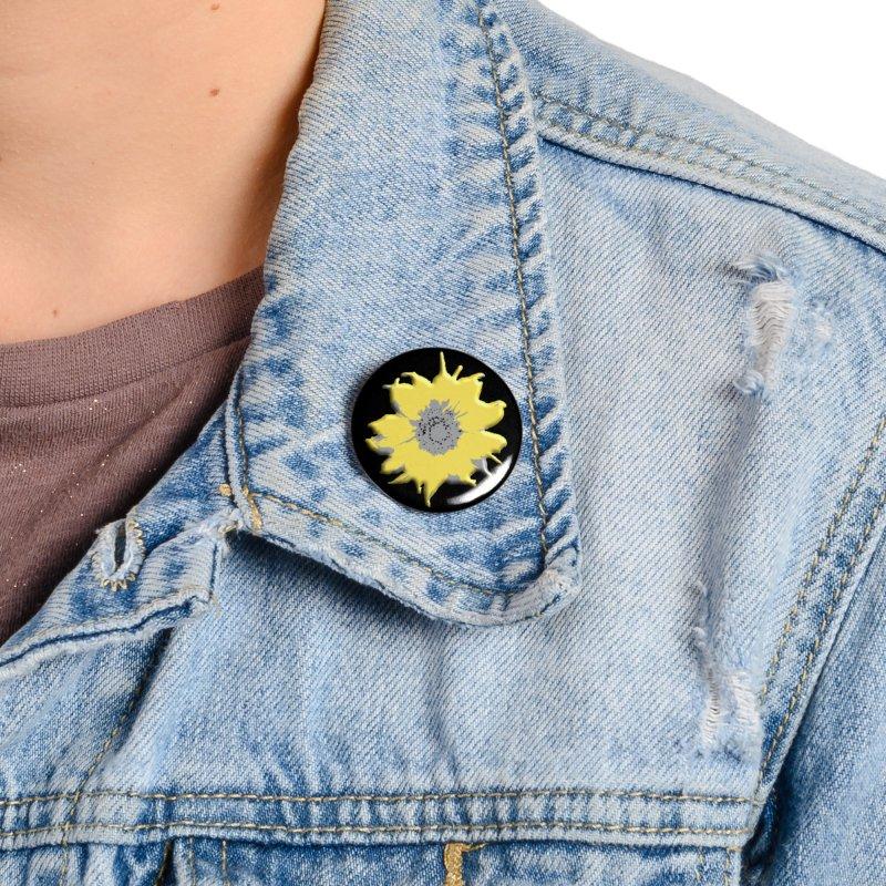 Sunflower Spill Accessories Button by C. Cooley's Artist Shop