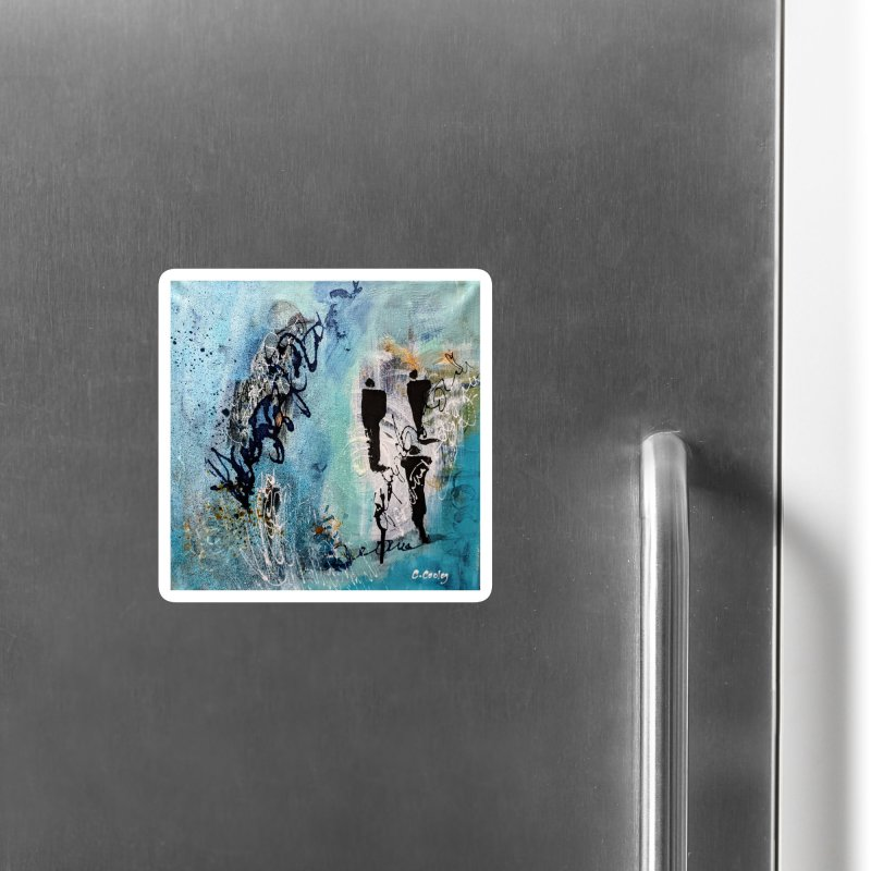 Musing Accessories Magnet by C. Cooley's Artist Shop