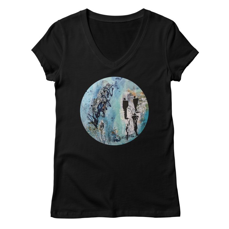 Musing Women's V-Neck by C. Cooley's Artist Shop