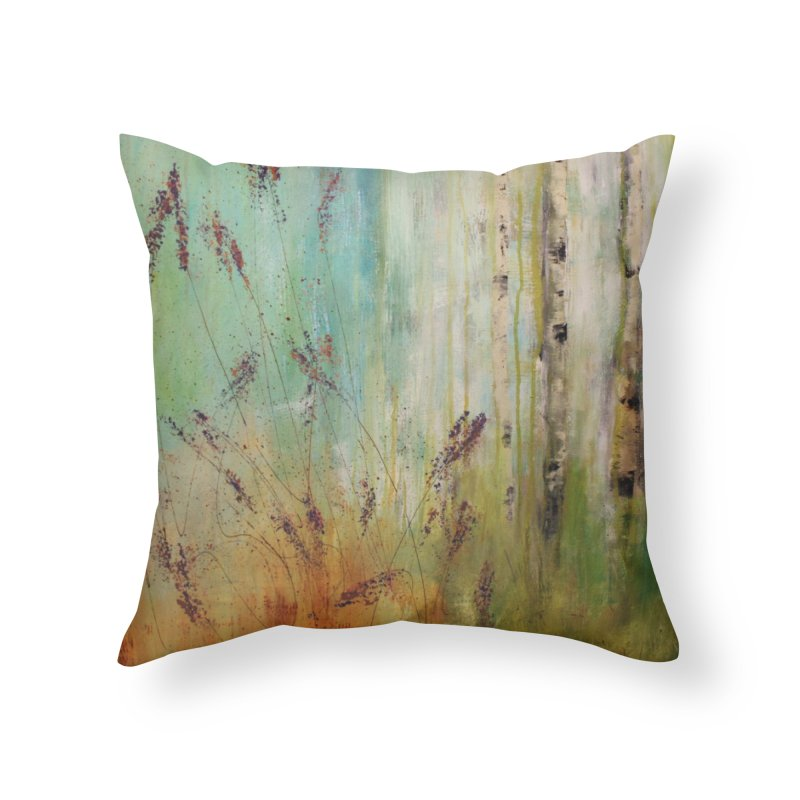 Respite Home Throw Pillow by C. Cooley's Artist Shop
