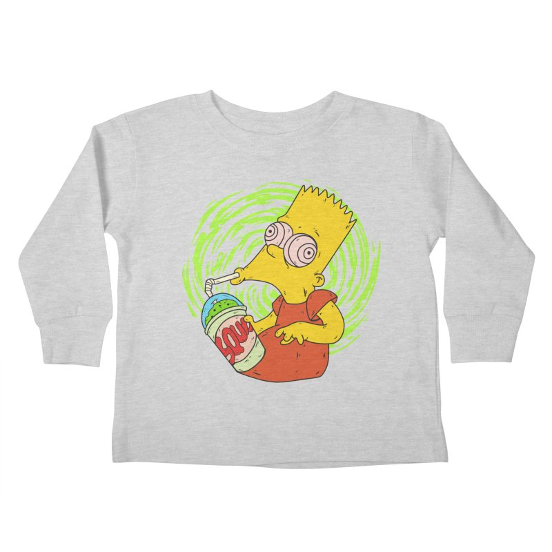 BartSquishy Kids Toddler Longsleeve T-Shirt by cearlsonvios's Artist Shop