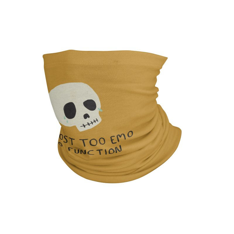 Almost Too Emo To Function (YELLOW) Accessories Neck Gaiter by Cecelia Hotzler Design