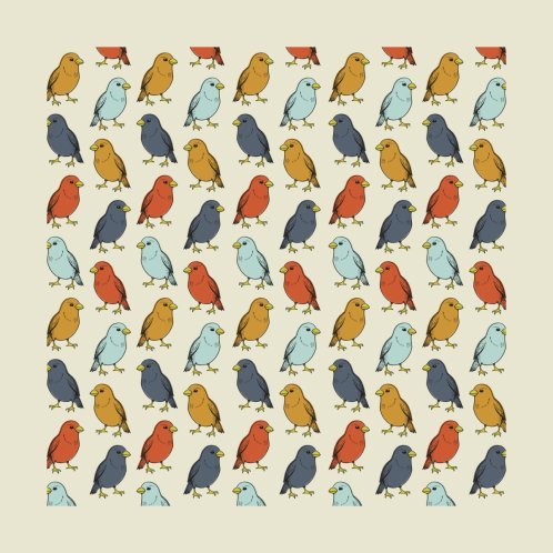 Design for Colorful Bird Pattern
