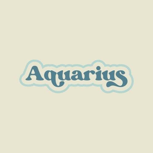 Design for Aquarius Retro Typography