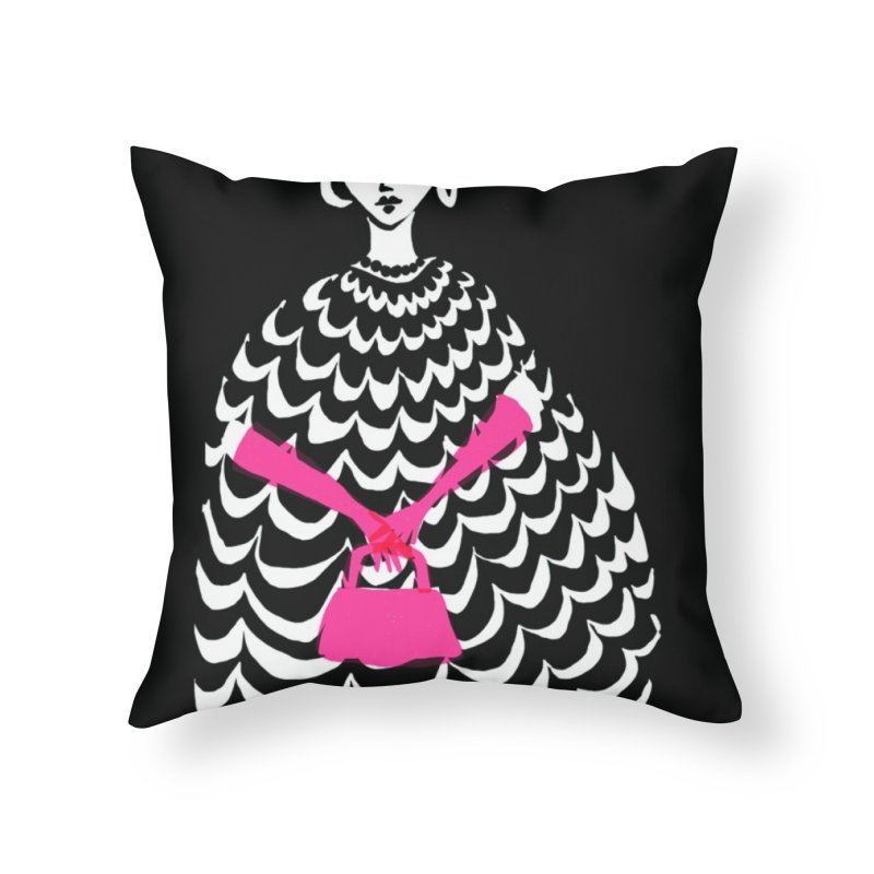Pink Purse Home Throw Pillow by Ceci Bowman's Product Site