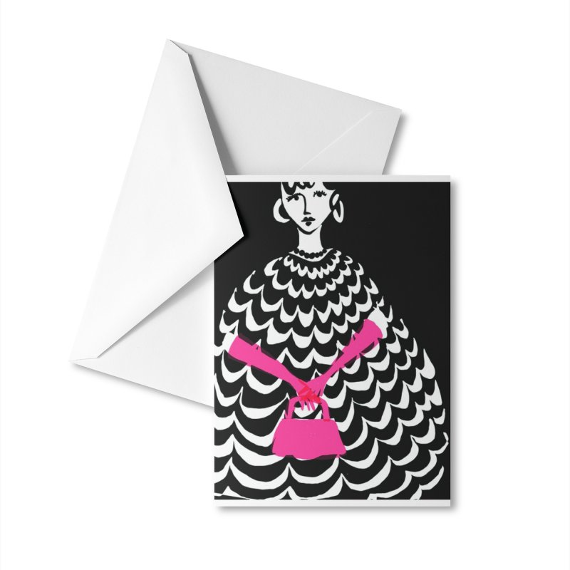 Pink Purse Accessories Greeting Card by Ceci Bowman's Product Site