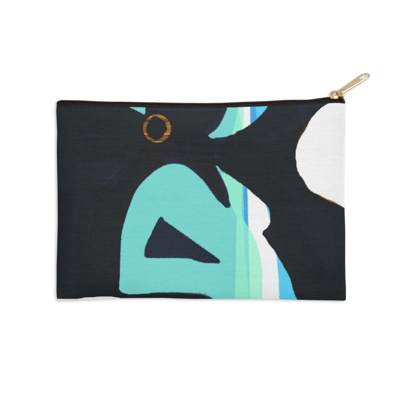 Wood you be Blue Accessories Zip Pouch by Ceci Bowman's Product Site