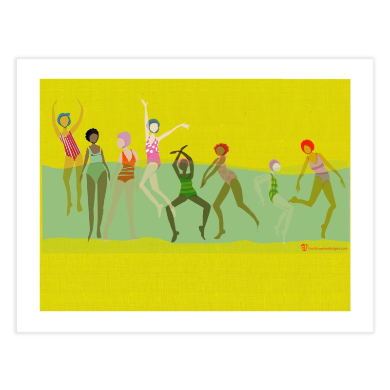 Swimmer Girls 2 Home Fine Art Print by Ceci Bowman's Product Site
