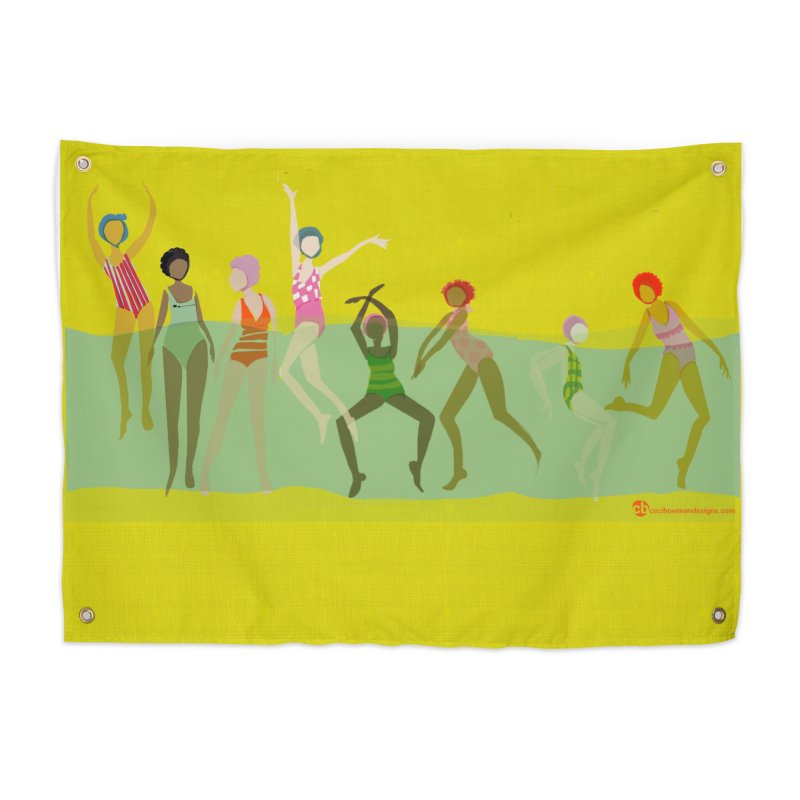 Swimmer Girls 2 Home Tapestry by Ceci Bowman's Product Site