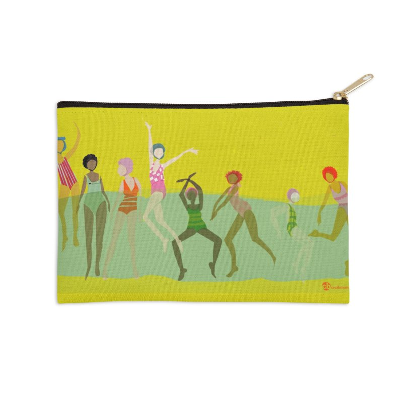 Swimmer Girls 2 Accessories Zip Pouch by Ceci Bowman's Product Site
