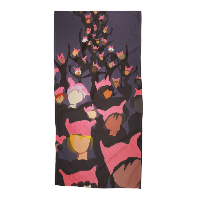 Women's March Design by Ceci Bowman Accessories Beach Towel by Ceci Bowman's Product Site