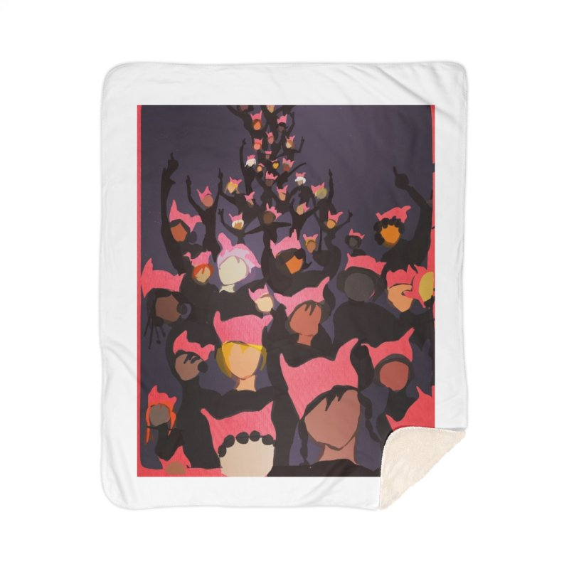 Women's March Design by Ceci Bowman Home Sherpa Blanket Blanket by Ceci Bowman's Product Site
