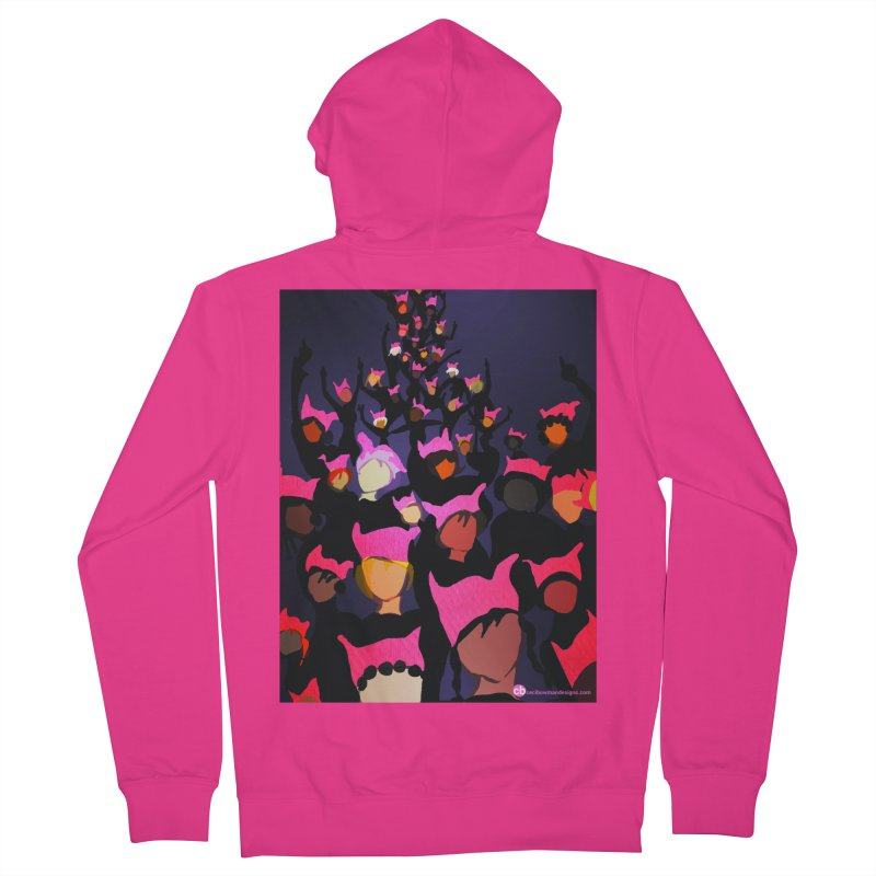 Women's March Design by Ceci Bowman Men's French Terry Zip-Up Hoody by Ceci Bowman's Product Site