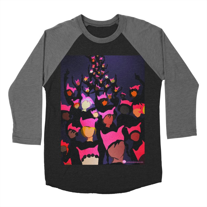 Women's March Design by Ceci Bowman Men's Baseball Triblend Longsleeve T-Shirt by Ceci Bowman's Product Site