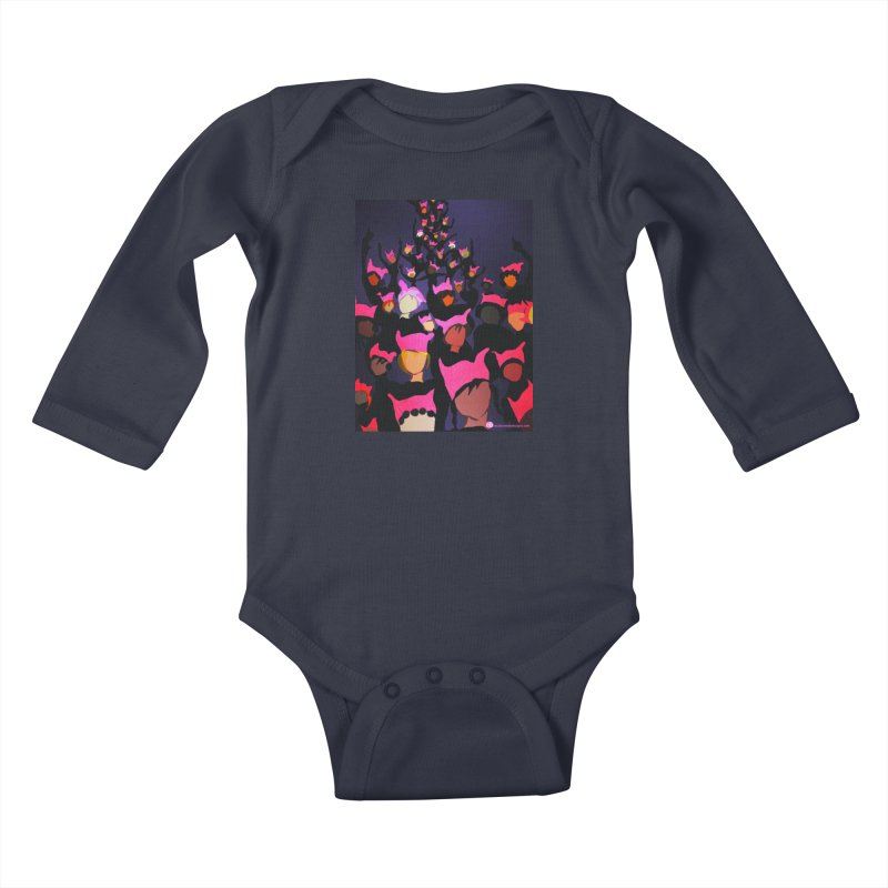 Women's March Design by Ceci Bowman Kids Baby Longsleeve Bodysuit by Ceci Bowman's Product Site