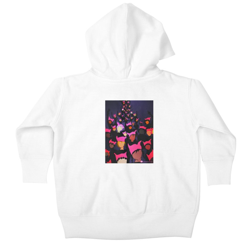 Women's March Design by Ceci Bowman Kids Baby Zip-Up Hoody by Ceci Bowman's Product Site