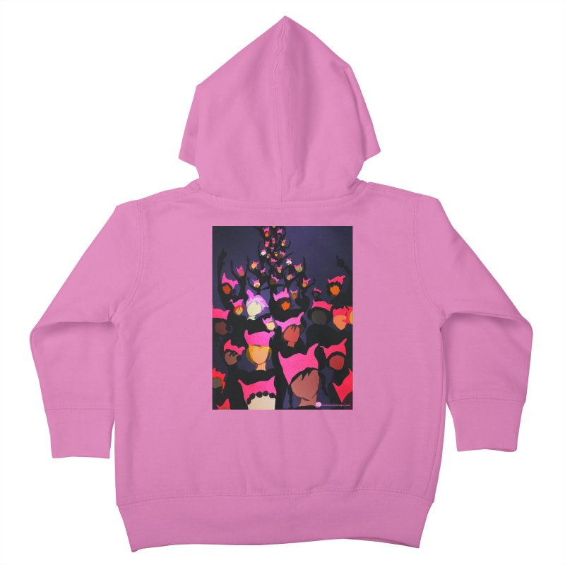 Women's March Design by Ceci Bowman Kids Toddler Zip-Up Hoody by Ceci Bowman's Product Site