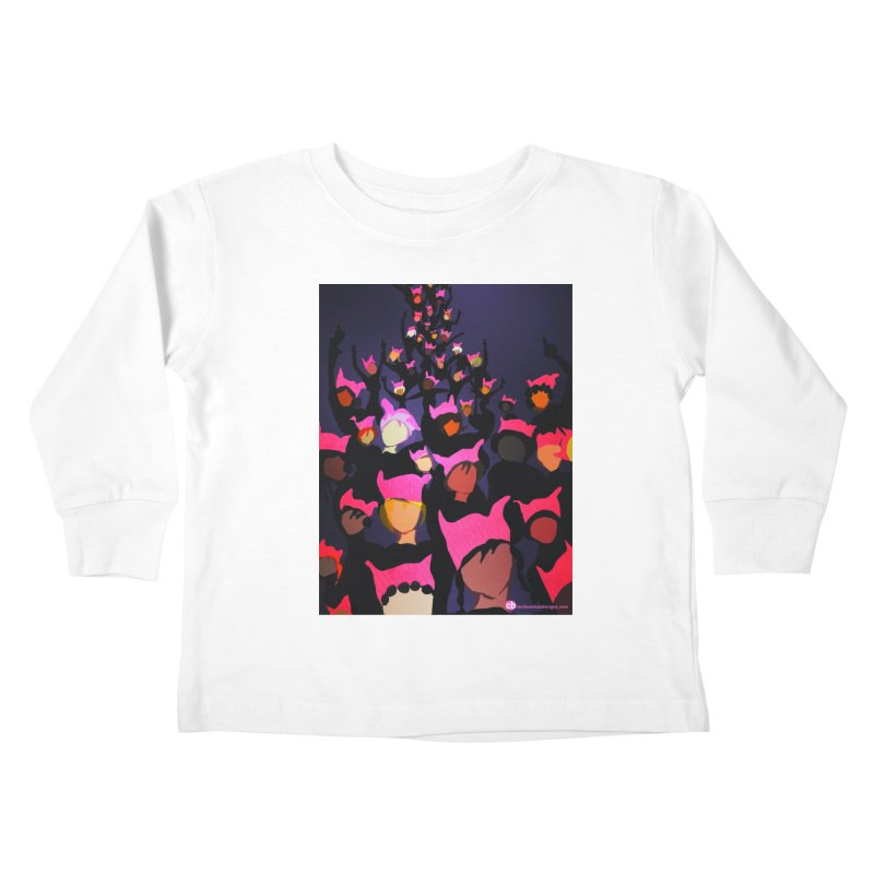 Women's March Design by Ceci Bowman Kids Toddler Longsleeve T-Shirt by Ceci Bowman's Product Site