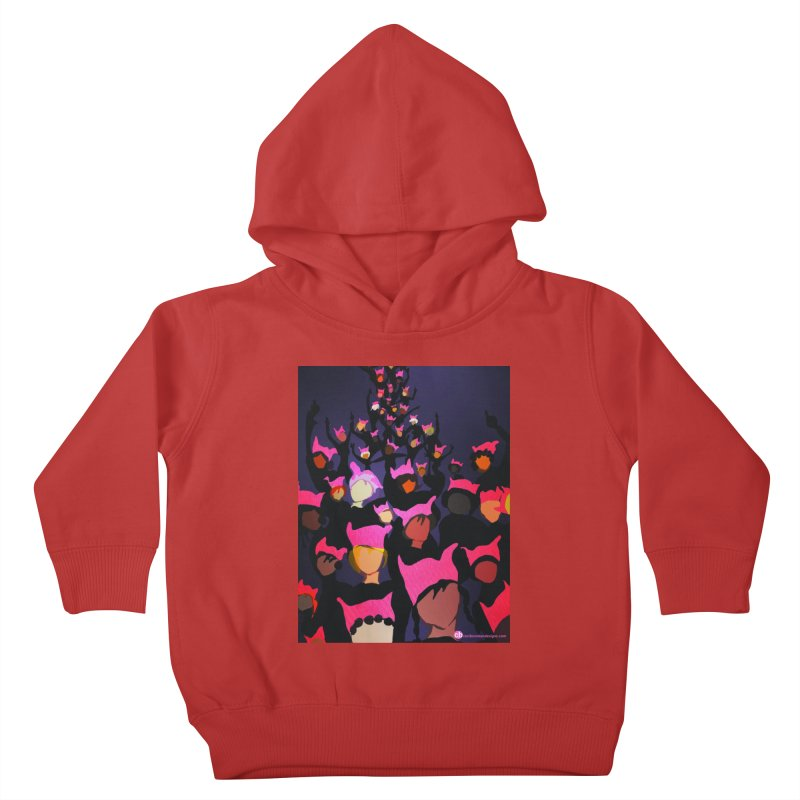 Women's March Design by Ceci Bowman Kids Toddler Pullover Hoody by Ceci Bowman's Product Site
