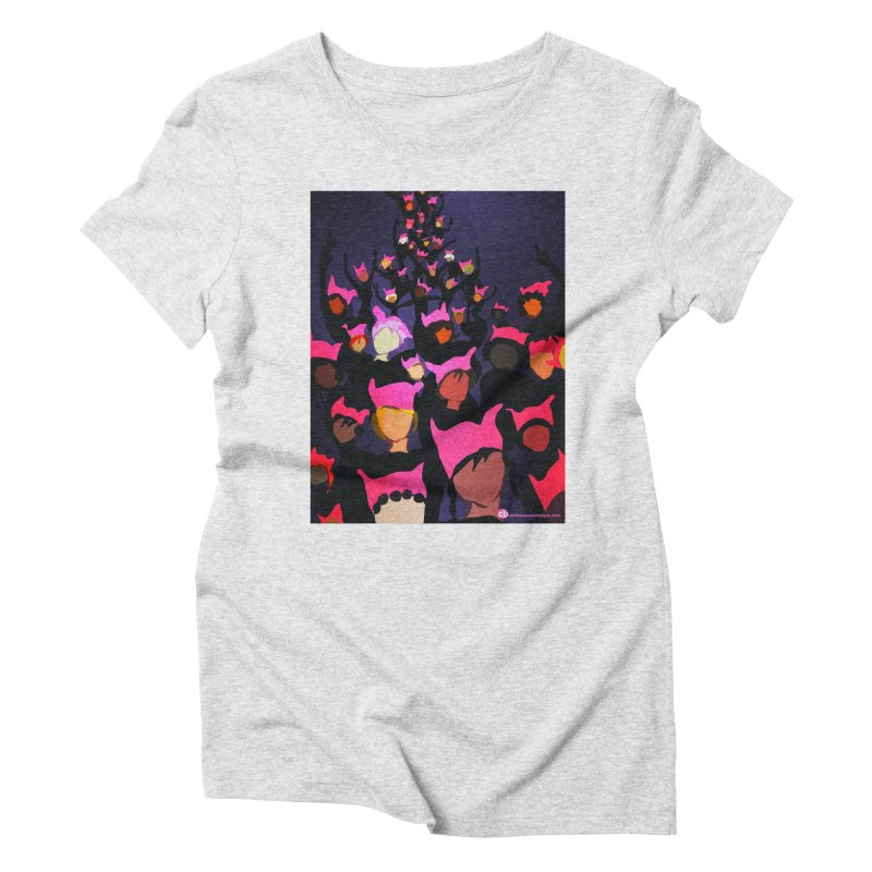 Women's March Design by Ceci Bowman Women's Triblend T-Shirt by Ceci Bowman's Product Site