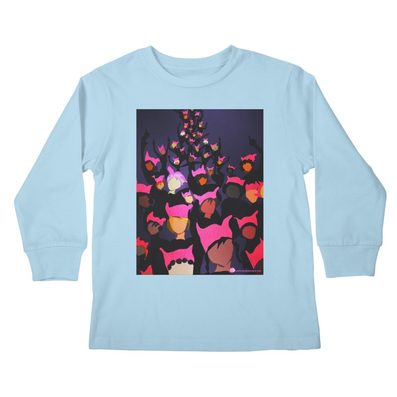 Women's March Design by Ceci Bowman Kids Longsleeve T-Shirt by Ceci Bowman's Product Site