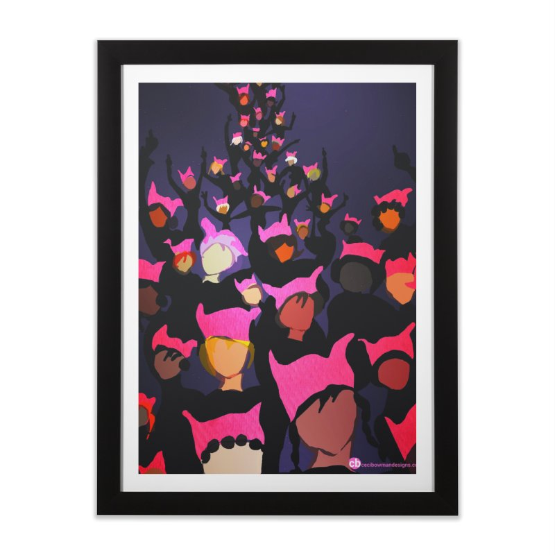 Women's March Design by Ceci Bowman Home Framed Fine Art Print by Ceci Bowman's Product Site